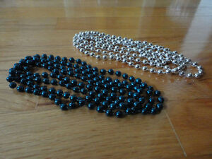 Brand new set of 2 blue and silver beaded necklace London Ontario image 6