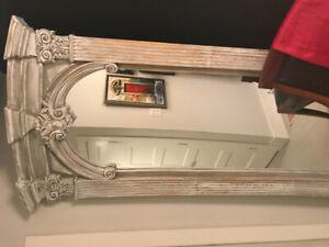 Gorgeous wood full length carved mirror.