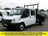 2013 FORD TRANSIT 350/125 DOUBLE/CREW CAB TIPPER *** 1 OWNER FROM NEW WITH FULL
