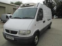 2003 Vauxhall Movano 2.2DTi LWB High Roof 3.5t sld pas refrigerated rear