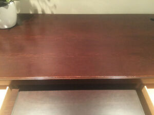 Brown Solid Wood Desk