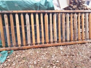 RUSTIC FENCING SECTIONS  FOR SALE