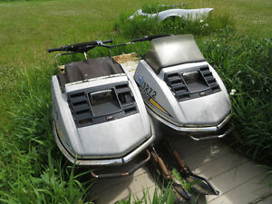 Pair of Silver Bullet Ski Doos one for $400 and one for $450