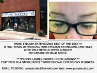 EYELASH EXTENSIONS-CERTIFIED 8 YRS WITH A MASTER TECH