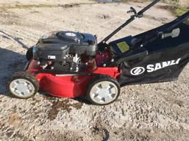 Self-propelled mower.