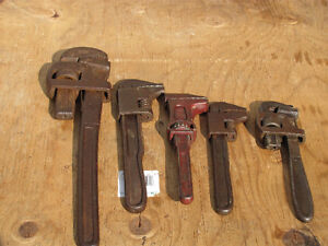 OLD VINTAGE PIPE WRENCHES