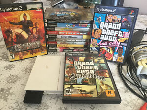 White Playstation 2 SLIM W/ 13 Games Some Rare 100 Or best offer