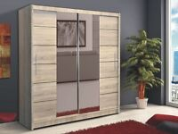 **7-DAY MONEY BACK GUARANTEE!**- Hamburg Sliding Door German Designed Wardrobe- EXPRESS DELIVERY!
