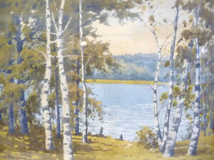 "William Gardner Blackwood ""Warm Summer's Day"" Original Watercolo Stratford Kitchener Area image 3"