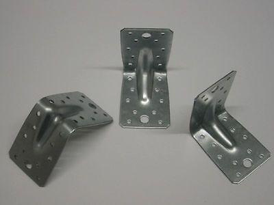 50 Winkelverbinder mit Rippe 90 x 90 x 65 x2,5mm Holz Bau Winkel DIN 1052 CE ETA