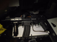 Paintball Marker Tippman A-5 and Eraser Paintball Pistol.