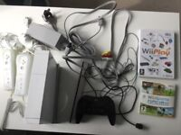 Nintendo Wii Console, Games and Controllers Set with Downloaded Retro Games.
