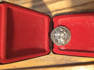 1970 Canada silver dollar coin in excellent shape
