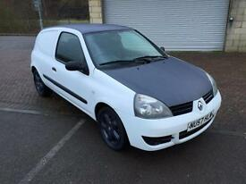 57 reg Renault Clio 1.5 Turbo Diesel Van White & Grey Alloys Sporty Loooking