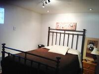 Une belle chambre meublée dans un 4 1/2 spacieux