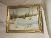 Restored Original Painting with Beautiful Gold Frame