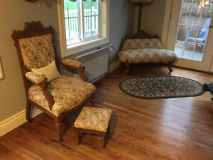Antique Chair, Couch and Stool