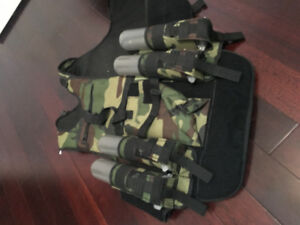 Paintball chest gear with pouches