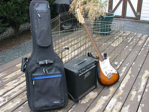Cort Electric Guitar, Peavey Amp and Guitar Bag