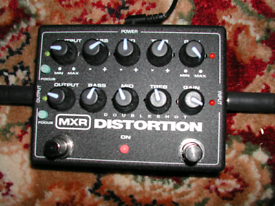 MXR Doubleshot Distortion twin channel overdrive gain boost pedal