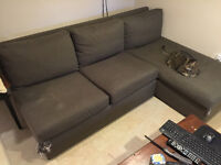 Crate & Barrel sectional couch