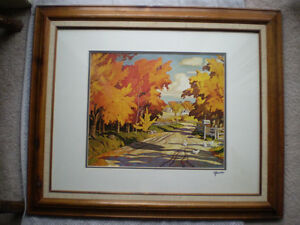 """Full Signature  A.J.Casson """"Country Road"""" Print Kitchener / Waterloo Kitchener Area image 2"""