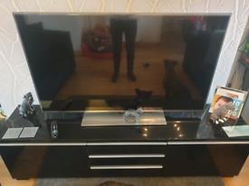 Black High-Gloss Ikea TV Bench
