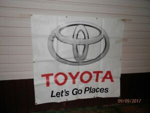 "Toyota ""Let's Go Places"" banner  5' x 5'"