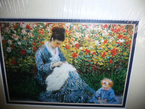 "Claude Monet ""Camille Monet and a Child in the Artist's Garden Stratford Kitchener Area image 6"
