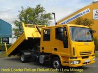 Iveco Eurocargo 80e18 D/Cab Hookloader Roll-on Roll-off body 2008/ 58