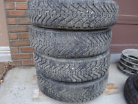 Goodyear Nordic Tires with rims  P155 80R 13