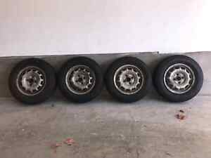 Almost new season tires P155/80R13 with rims Kitchener / Waterloo Kitchener Area image 3