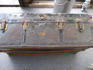 Vintage War Time Trunk