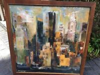 Framed Print of abstract view of New York City