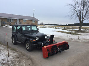 2000 Jeep TJ with Snow Blower