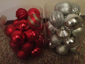 Red, Silver Ornaments