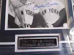 Joe Dimaggio and Micky Mantle autographed picture  St. John's Newfoundland image 2
