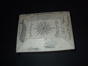 Faux Scrimshaw --Nautical -- Etched Trinket Box Kitchener / Waterloo Kitchener Area image 1