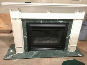 Gas Fireplace, Direct Rear Vent - with Mental - Heat and Glow