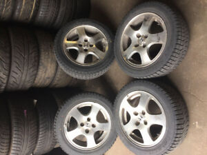 honda civic, acura integra 4 bolt 4x100 wheels with winter tires