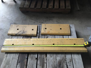 3 piece cutting edge for loader bucket. 96inch