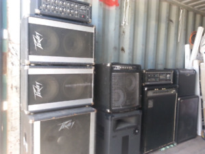 BAND  STAGE EQUIPMENT TRADE FOR VINYL RECORDS