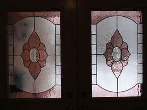 thermal stained glass door inserts