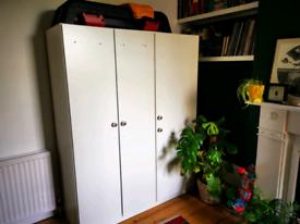 IKEA DOMBAS White 3 door triple wardrobe