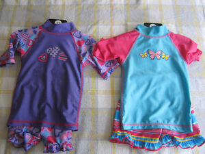 UV SKINZ UPF 50+ Sunwear girls size 2, 3 pieces,BNWT (2 sets)