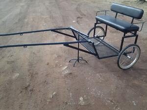 mini horse cart