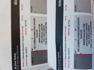 Eagles Tickets - section 107, row 5, seats 23&24