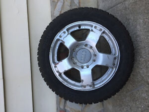 Audi-VW: Hankook Winterforce I Pike studded tires and Audi rims