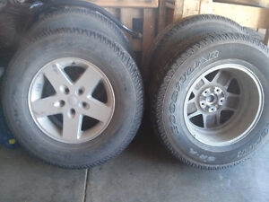 "17"" Jeep rims and tires for sale"