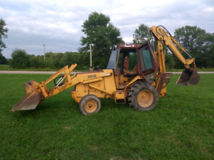 1987 Case 580 Super E extend a hoe